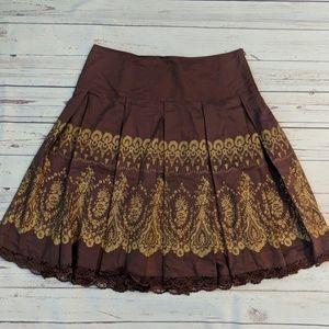 Anthropologie Odille print skirt 12